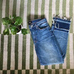 Hudson Jeans Zoeey Double Step Crop Denim